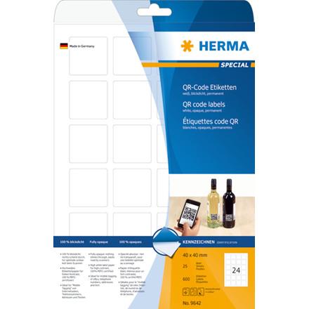 Etiketter HERMA Special QR-kod 40x40 (25)