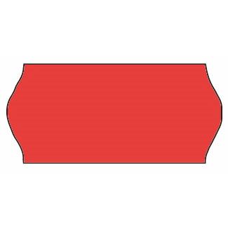 Etiketter - Meto 26 x 12 mm fluor. rød perm. lim 2 - 500 stk