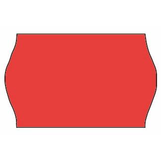 Etiketter - Meto 26 x 16 mm fluor. rød perm. lim 2 - 1200 stk