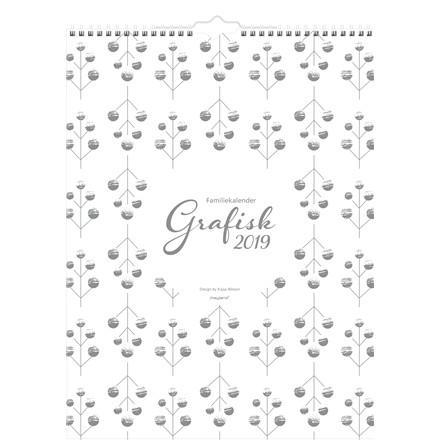 Mayland Familiekalender 2019 Grafisk 29,5 x 39 cm - 19 0664 60