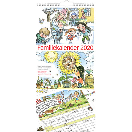 Familiekalender m/illustration 23x50cm 20 0661 00
