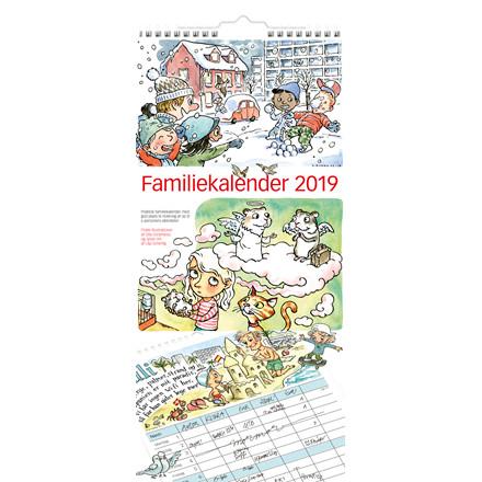 Mayland 2019 Familiekalender med illustrationer 23 x 50 cm - 19 0661 00