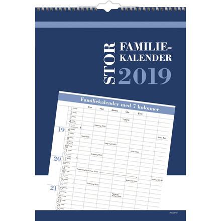 Mayland Familiekalender stor 7 kolonner 34 x 48 cm - 19 0663 80