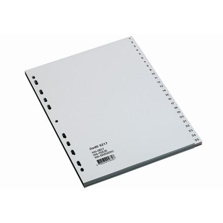 Faneblade 1-100 Bantex A4 - slidstærk grå plastfolie