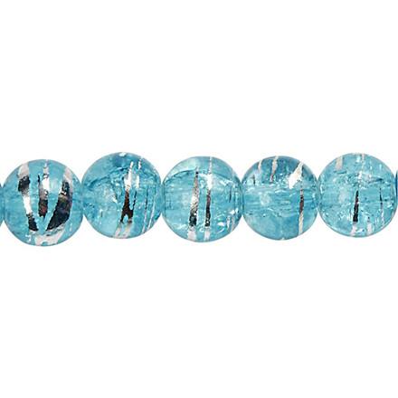 Fashion mix, dia. 8 mm, hulstr. 1 mm, turkis, Transparent grafit, 88stk.