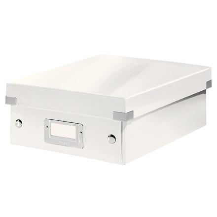 Leitz Click & Store opbevaringskasse 22 x 10 x 28,5 cm - Hvid