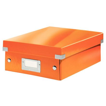 Leitz Click & Store opbevaringskasse 22 x 10 x 28,5 cm - Orange
