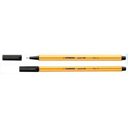 Stabilo Point 88 Fiberpen -  Sort Fineliner 0,4 mm