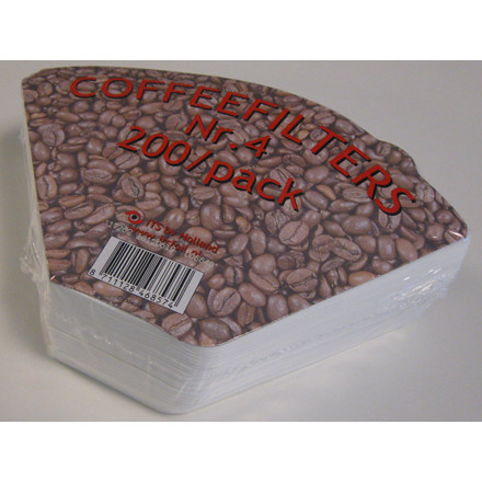 Kaffefilter nr. 1x4 - 200 stk i en pakke