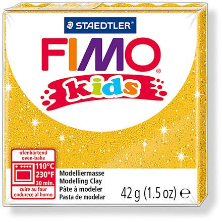FIMO® Kids ler guld med glitter - 42 gram