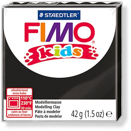 FIMO® Kids ler sort - 42 gram