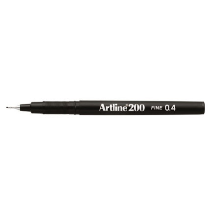 Fineliner Artline 200 Fine 0.4 sort