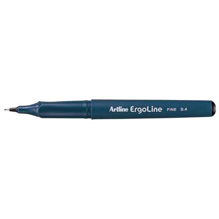 Artline Ergoline ERG3400 - Sort Fineliner 0,4 mm