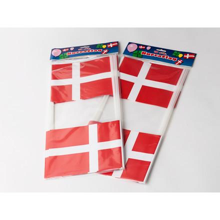 Flag papir på pind 14,5 x 19 cm - 10 stk. i en pakke