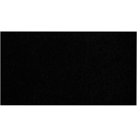Fleece længde 125 cm bredde 150 cm sort | 200 g/m2