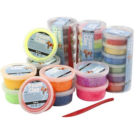 Foam Clay® assorteret farver | 28 dåser