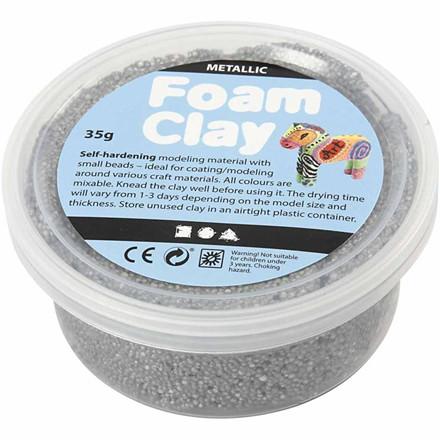 Foam Clay® sølv metallic - 35 gram