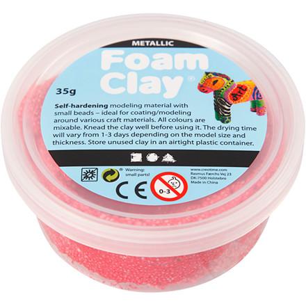 Foam Clay® rød metallic | 35 gram