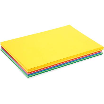 Farvet karton A3 i 13 forskellige forårsfarver 180 gram - i alt 300 ark