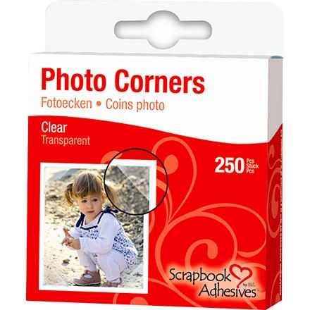 Fotohjørner 10 mm klar plast - 250 stk