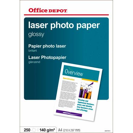 Fotopapir - A4 laser OD 140 gram Glossy 4857813 - 250 ark