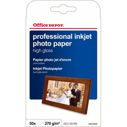 Fotopapir - inkjet OD 10 x 15 cm 280 gram High Gloss 50 ark