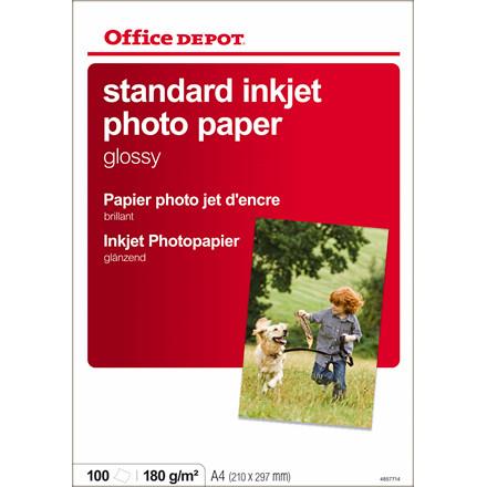 Fotopapir - inkjet OD 180 gram A4 Glossy - 100 ark