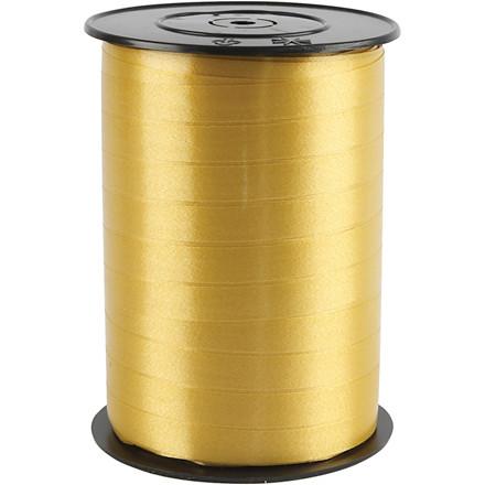 Gavebånd bredde 10 mm guld blank - 250 meter