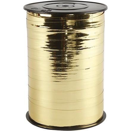 Gavebånd bredde 10 mm metal guld | 250 meter