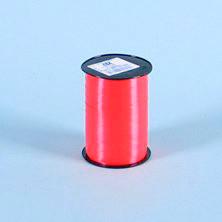 Gavebånd - i glat rød 10 mm x 250 meter, 5 ruller i pakken, nr. 33