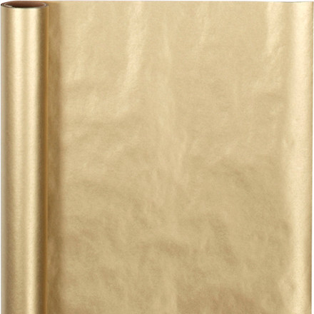 Gavepapir bredde 50 cm 60 gram guld - 5 meter