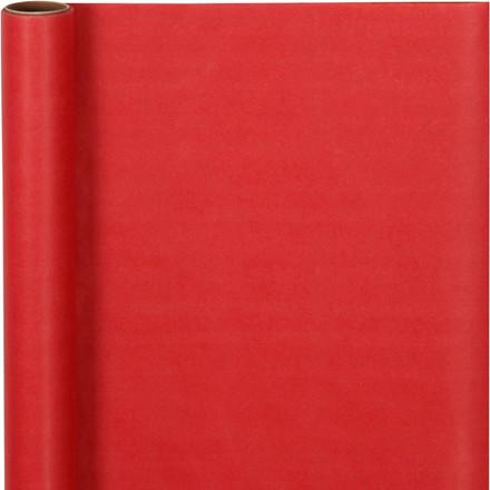 Gavepapir bredde 50 cm 60 gram rød - 5 meter