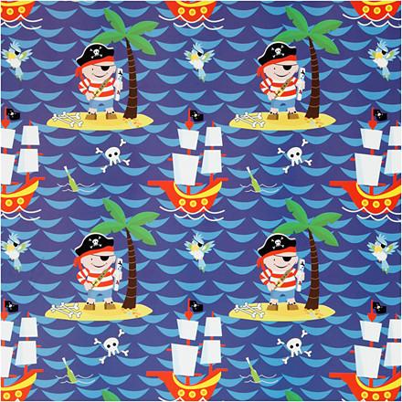 Gavepapir bredde 50 cm pirater | 5 meter