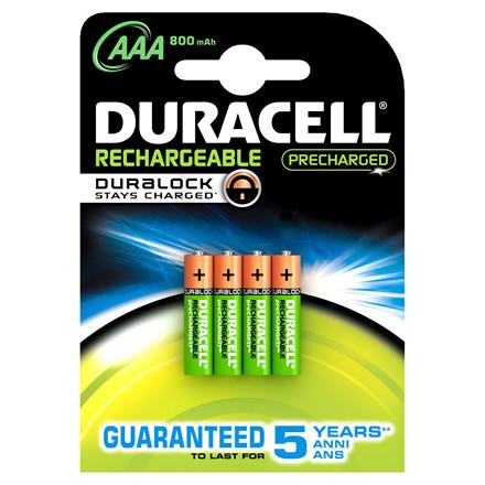 Genopladelig AAA batteri Duracell - 800 mAh 4 stk i pakken