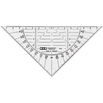 Geometritrekant | Bredde 16 cm