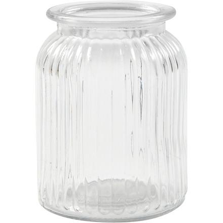 Glaskrukke, H: 14,5 cm, diam. 11 cm, 6stk., hulstr. 7 cm
