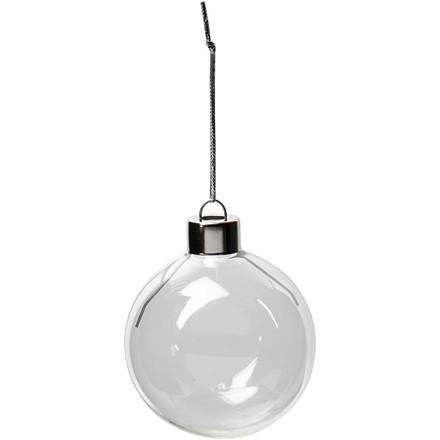 Glaskugle diameter 5,9 cm højde 6,9 cm transparent | 8 stk.