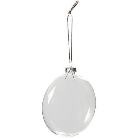 Glaskugle diameter 8 cm tykkelse 2,1 cm | 6 stk.