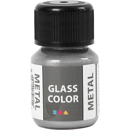 Glass Color Metal, sølv, 35ml