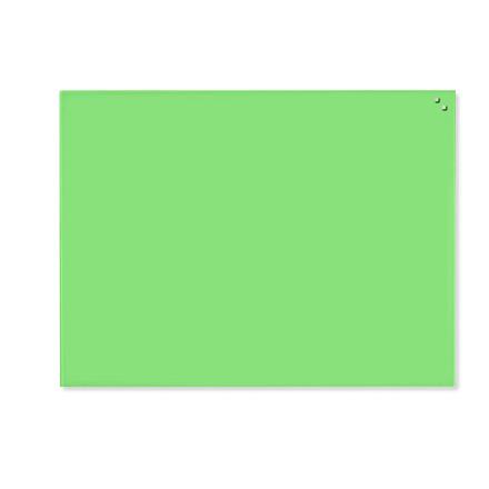 Glastavle 600 x 800 mm - Naga magnetisk limegrøn