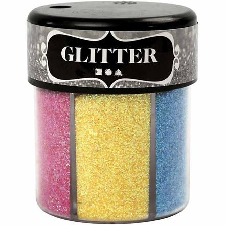 Glitter Assorterede farver - 6 stk. med 13 gram