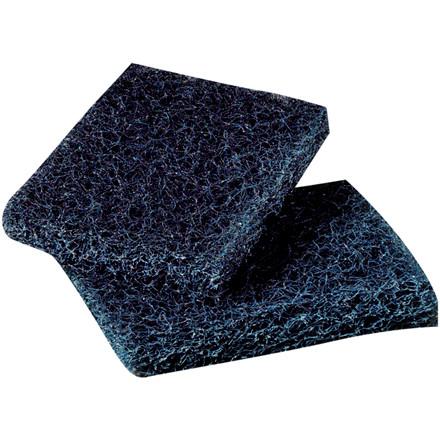 Grillskurefiber, 3M Scotch-Brite 450 skurefiber, blå, 9,50x16cm,