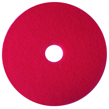 Gulvrondel, 3M, rød, huldiameter 85 mm, 19 tommer