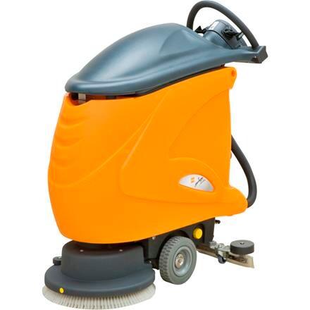 Gulvvasker, Diversey Taski, Swingo 755B Power BMS, orange, 2-rums, 40/40 l rent-/snavsevandstank *Denne vare tages ikke retur*