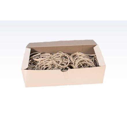 Gummibånd 100 x 5 mm i hvid - ca 380 stk 500 g i æsken