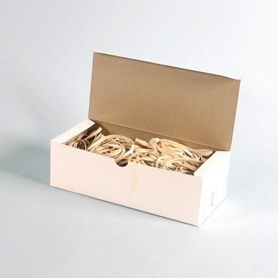 Gummibånd 10 x 140 mm - i hvid 500 g i æsken