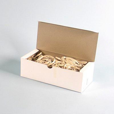 Gummibånd 5 x 120 mm - i hvid 500 g i æsken