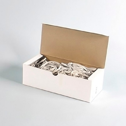 Gummibånd 5 x 140 mm - i hvid 500 g i æsken