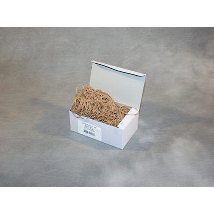 Gummibånd brun nr 18 - 80 mm 250g i æsken