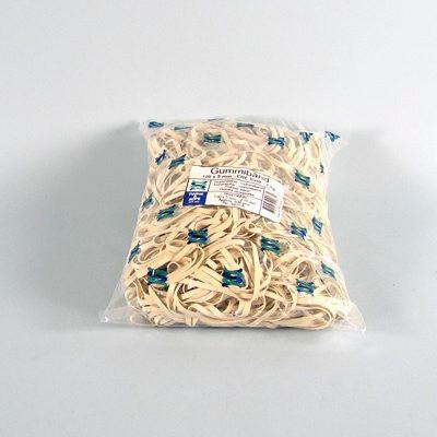 Gummibånd 5 x 200 mm - i hvid 1000 gram i posen